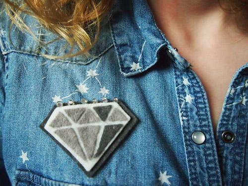 Diamant en feutrine Chouette Kit Hiver 2013