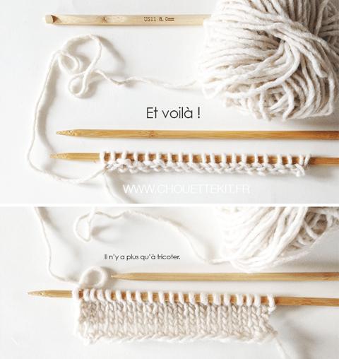 Monter des mailles au crochet…mais pour le tricot !
