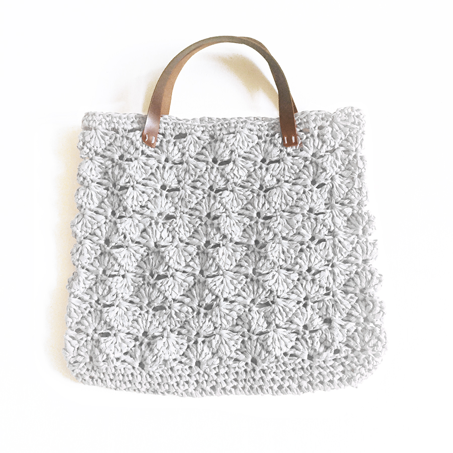 kit crochet grand sac gris perle