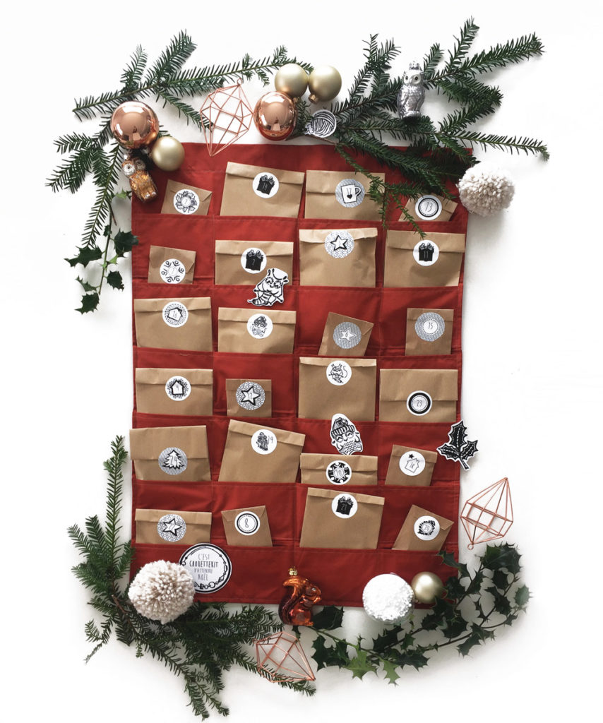 Le calendrier de l'avent Noël 2016