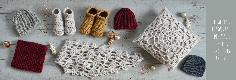 kit crochet et kit tricot 1 pelote et 2 pelotes