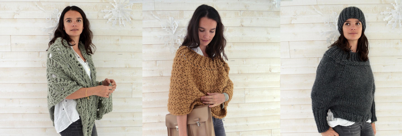 kit crochet poncho warmer sweatch