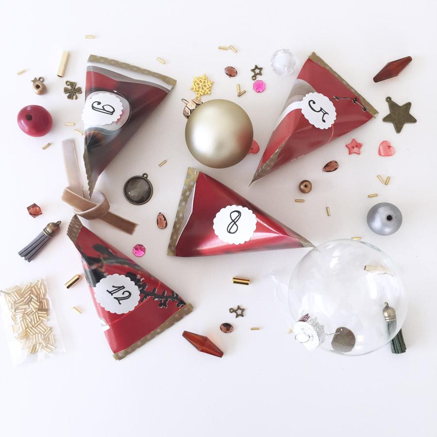 Tutoriel Cadeau Berlingots-Calendrier de l'Avent Noël