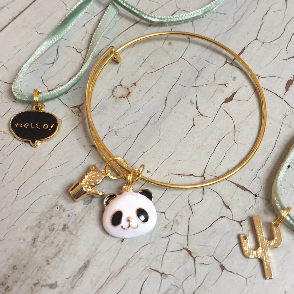 kit bijoux de chouette kit, bracelet or et sautoir avec cordon velours