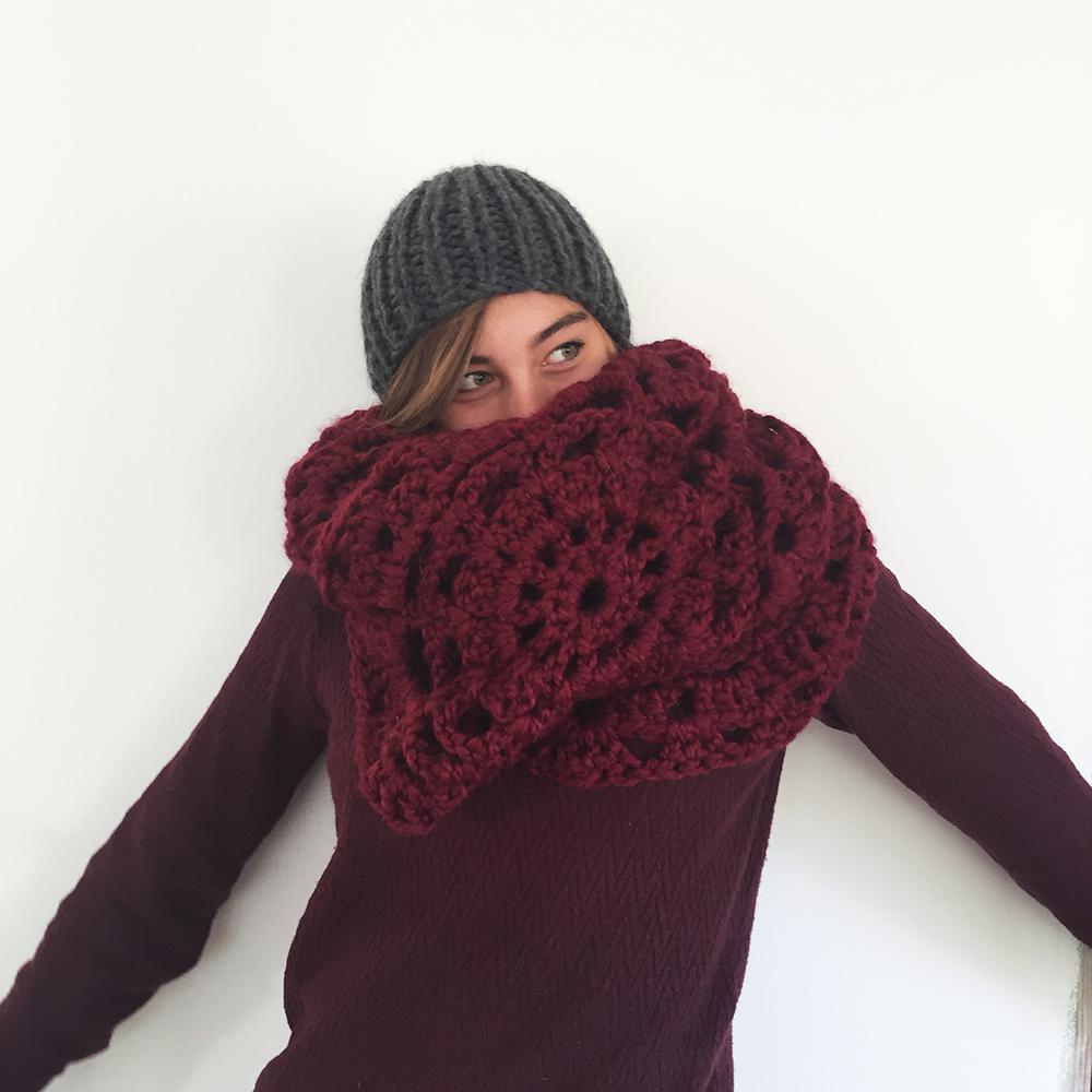 kit crochet maxi plaid maxi echarpe