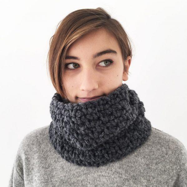 Kit de crochet pour réaliser un snood - Niveau débutant