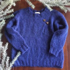 pull basique col rond - kit crochet