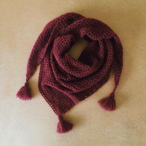 Pointe (châle) au crochet - Kit crochet facile avec pelotes et tutoriel