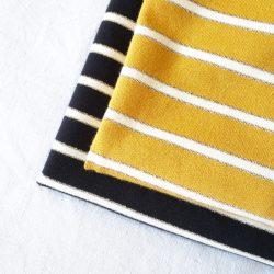 rayures jaunes lurex
