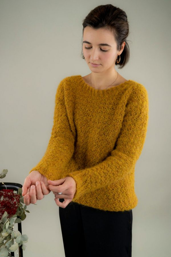 pull crochet texture