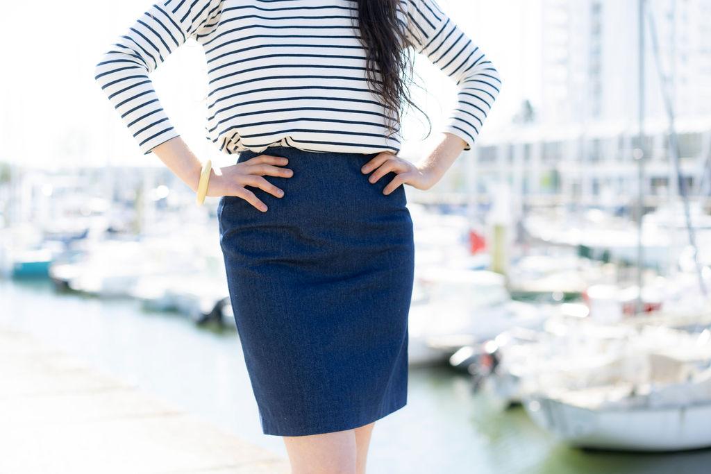 la petite jupe jean en jean